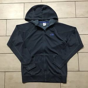 The North Face Full Zip Blue-Grey Hoodie